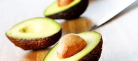 как се реже авокадото